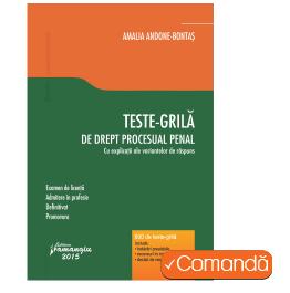 Teste grila Drept procesual penal - A. Bontas