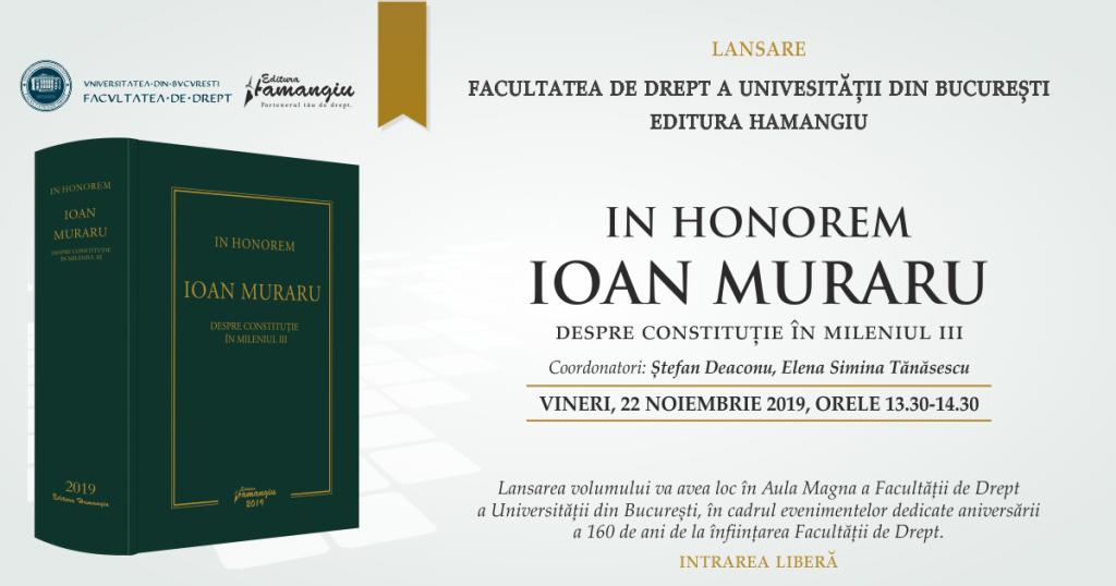 lansare In Honorem Ioan Muraru